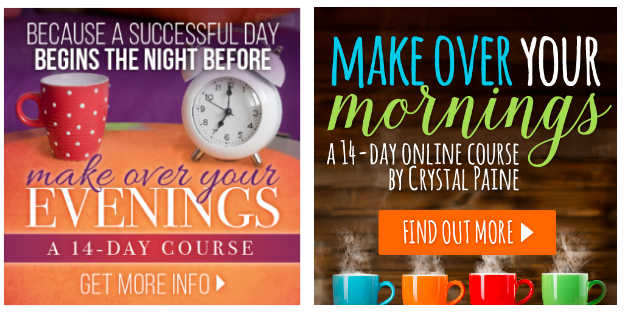 Enter for a chance to win FREE access to my Make Over Your Mornings and Evenings Courses!