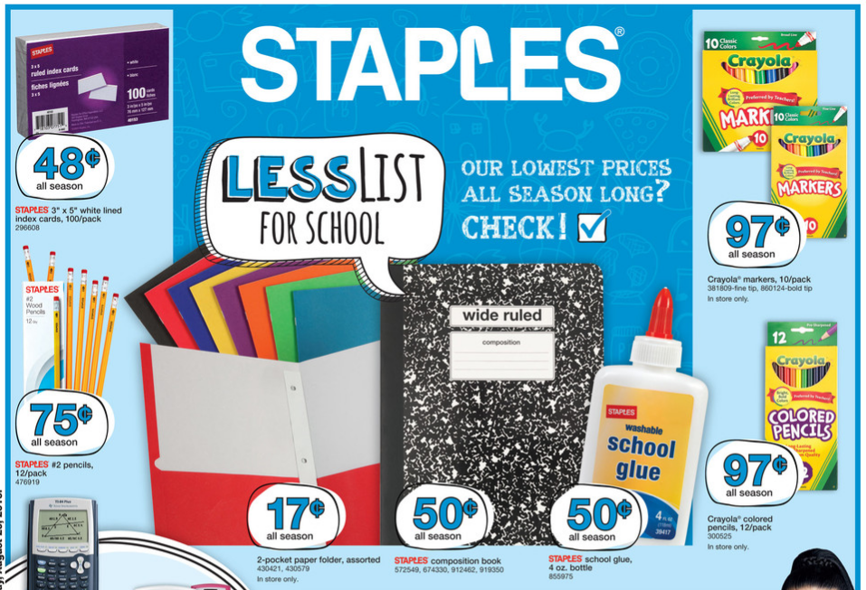 Check Out The Best Staples Back To School Deals You Can Get This Week