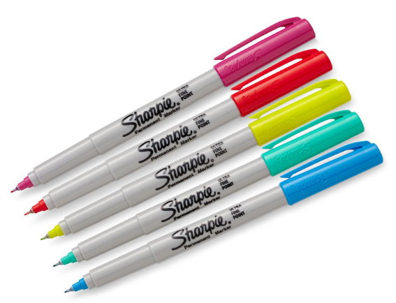 Get these Sharpie Color Burst Fine-Point Permanent Markers, 5 pack for just $2.68!