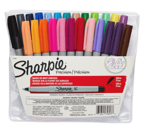 Get these Sharpie Ultra Fine Point Permanent Markers, 24-pack for just $10!