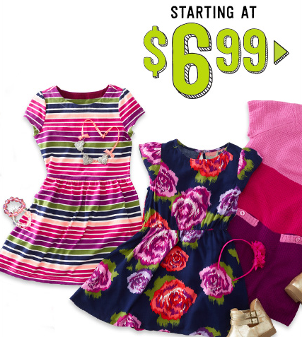 Shop the Crazy 8 $12.99 & Under Sale, plus get free shipping on all orders today only!