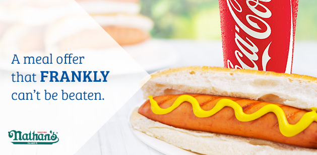 Grab a Nathan's Hot Dog and Soda for just $1 at Sam's Club right now!