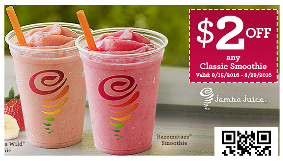 Print a Jamba Juice coupon to get $2 off any smoothie right now!