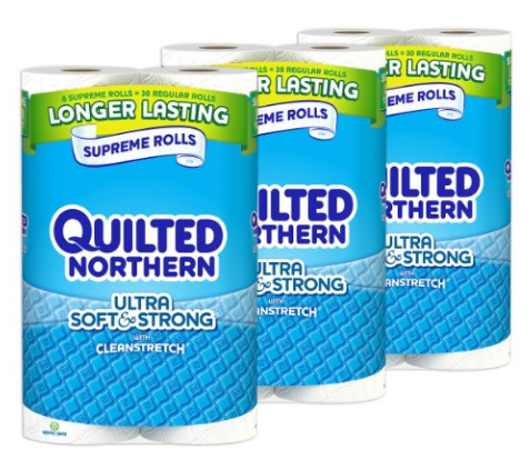 Get Quilted Northern Ultra Soft & Strong Bath Tissue for just $0.43 per double roll, shipped!