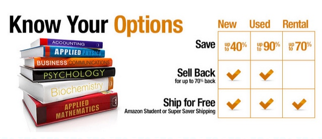 Get up to 90% off retail textbook prices + an extra $15 off any $100 order on Amazon right now!