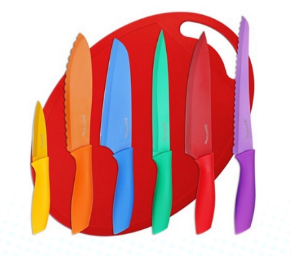 Get this Utopia Kitchen Color-Coded Knife Set with Cutting Board for just $12.99!