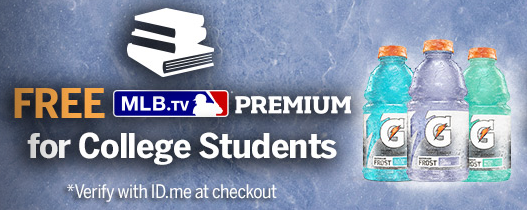 College students can sign up for a free subscription to MLB.TV right now!