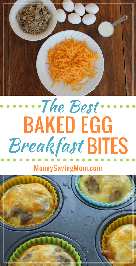 These baked egg & cheese breakfast bites are the BEST ever! They're SO simple to make on those busy weekday mornings, and they're ridiculously delicious!!