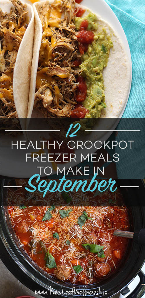 12 Healthy Crockpot Freezer Meals to Make in September