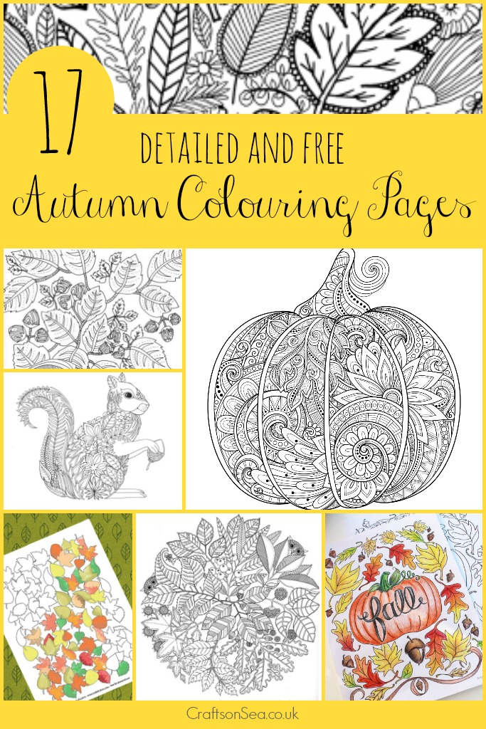 Free Printable Autumn Adult Coloring Pages - Money Saving ...