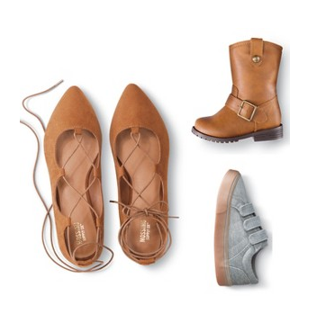 Save an extra 25% off shoes for the whole family with this new Target Cartwheel coupon!
