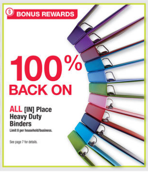 Get Free [IN] Place Heavy Duty Binders after rewards at Office Depot/OfficeMax right now!