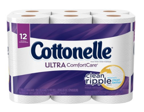 Get Cottonelle Ultra ComfortCare Toilet Paper, 12 Big Rolls for just $3.99 right now!