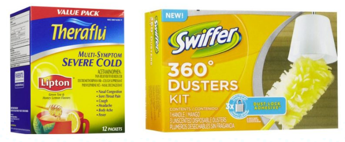 Get free Theraflu and Swiffer Duster Starter Kits at Dollar Tree right now!