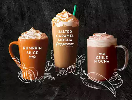 Get Grande Fall Drinks for just $3 this weekend!