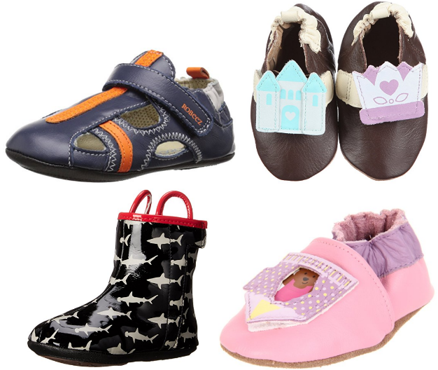 Get select styles of Kids' Robeez Shoes for under $12 right now on Amazon!