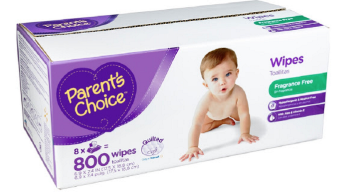 800 Parent's Choice Baby Wipes for Free