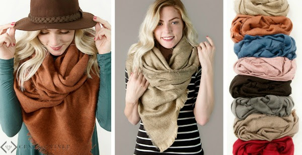 Cents of Style has Fall Blanket Scarves for just $14.95 shipped right now!
