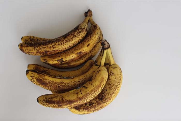 ripe bananas on counter