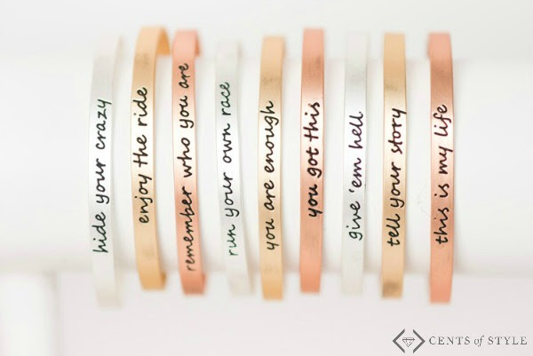 "Get a ""You Are Enough"" bracelet for just $11.99 shipped! (And many other phrases are included, too!)"