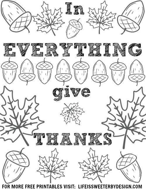 Bible Coloring Pages Thankful