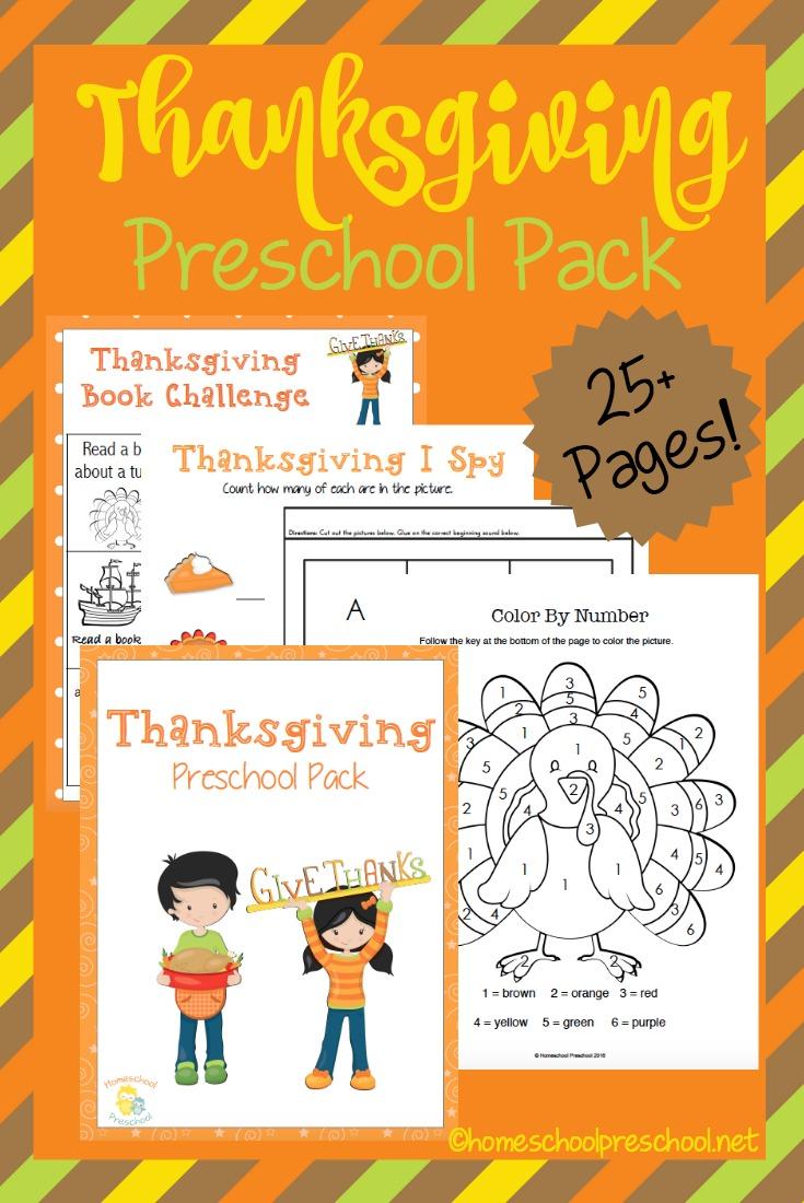 Free Printable Thanksgiving Preschool Pack - Money Saving Mom®