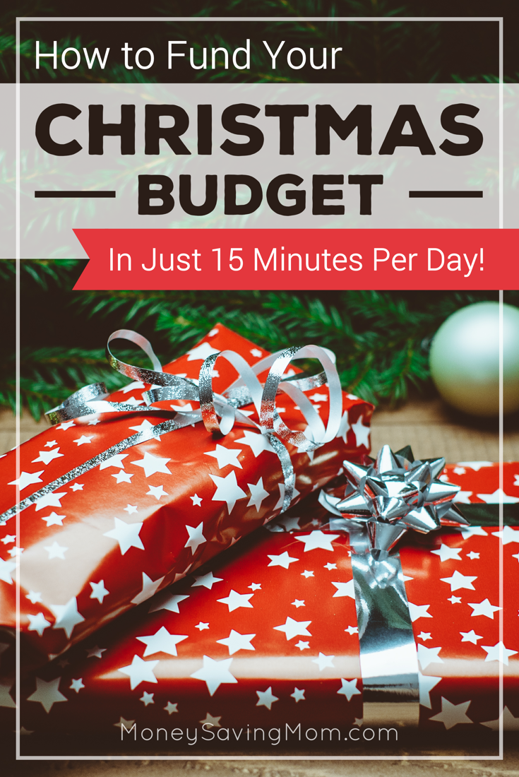 Fund your Christmas budget in 15 minutes a day! By participating in just a couple of these activities each day, you can add a pretty significant amount of cash to your Christmas budget!