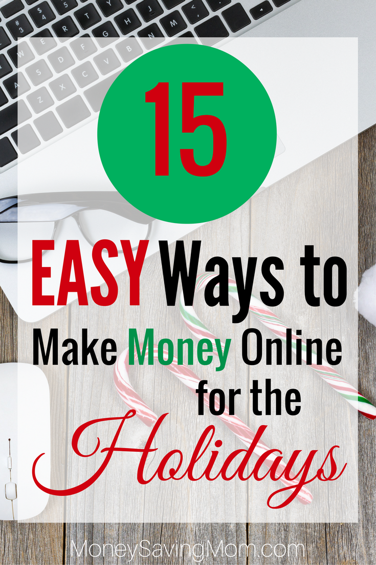 Check out these easy ways to earn money online for the Holidays! SO doable!