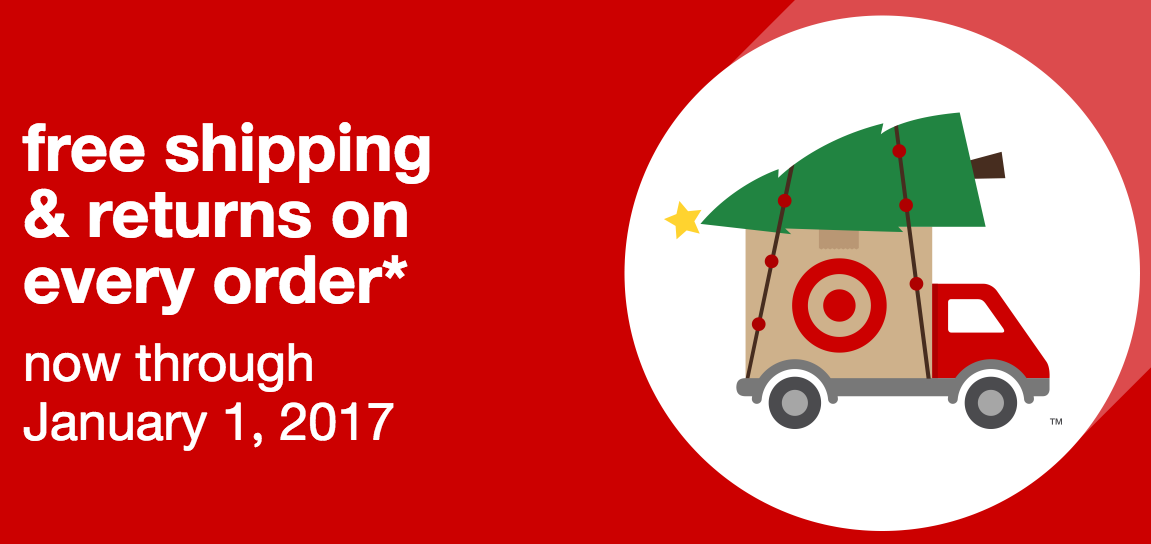 Target.com: Free Shipping On All Orders Through January 1, 2017!