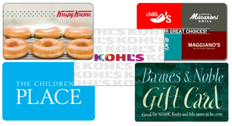 Discounted Gift Cards: Krispy Kreme, Chili's, Kohl's, plus more!