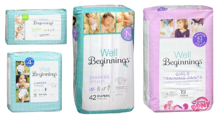 Get Well Beginnings Diapers for just $3.72 per pack, shipped at Walgreens right now!