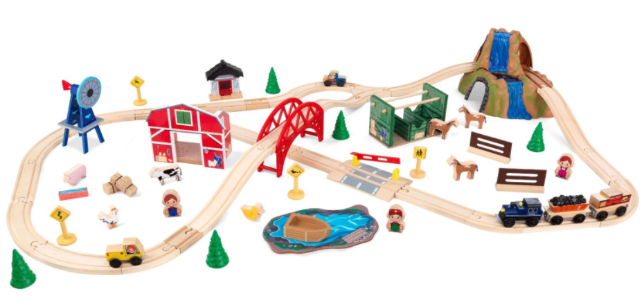 Get the KidKraft Farm Train Set for just $38.85 on Amazon right now!