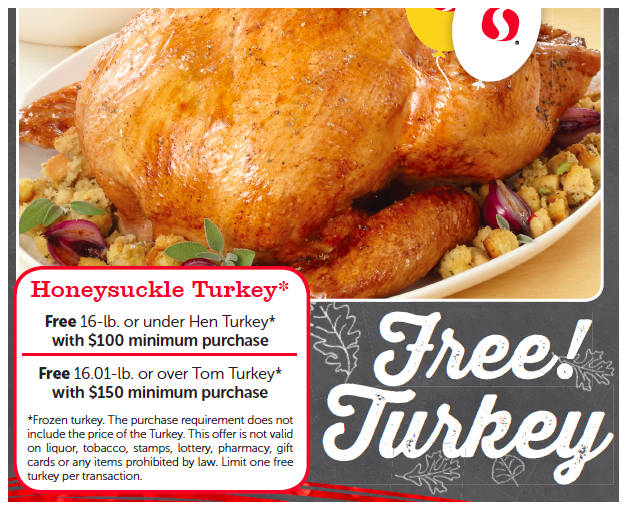 Get a FREE turkey at Safeway with a $100 grocery purchase!