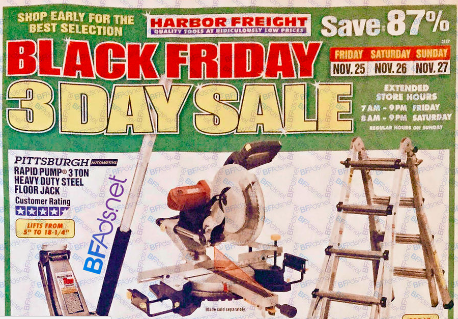 Harbor Freight Black Friday Ad 2016
