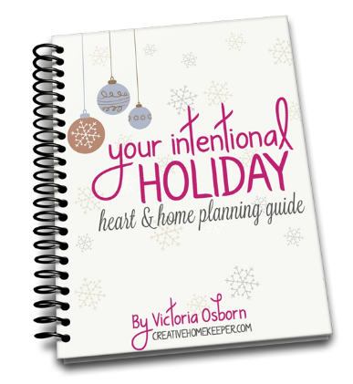 Free Printable Your Intentional Holiday Planning Guide