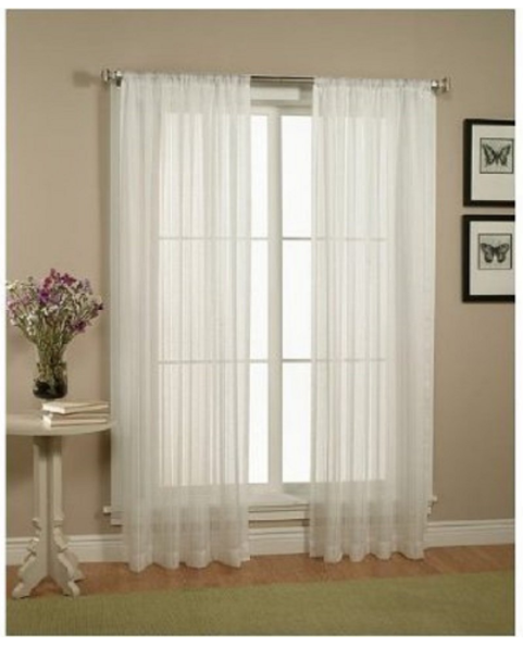Get these White Sheer Window Curtains for just $4.99 shipped on Amazon right now!