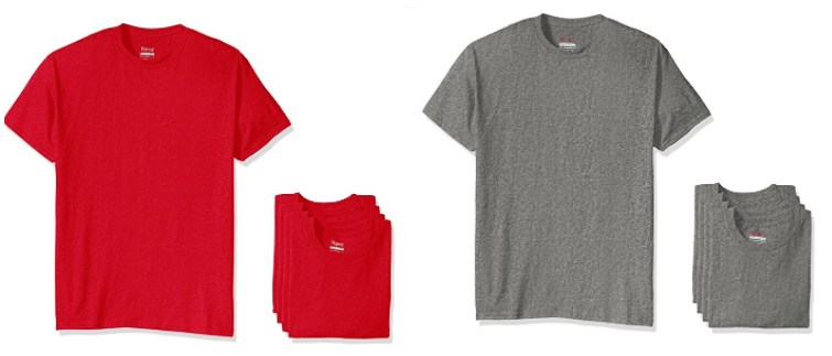 Get the Hanes Men's Short Sleeve Tees, 4 Pack as low as $7.39 on Amazon right now!