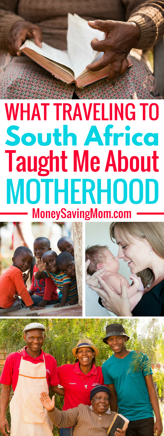 LOVE this heartfelt post from a mother who recently traveled to South Africa!