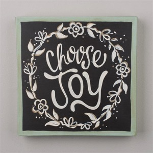 Choose Joy Wreath Canvas
