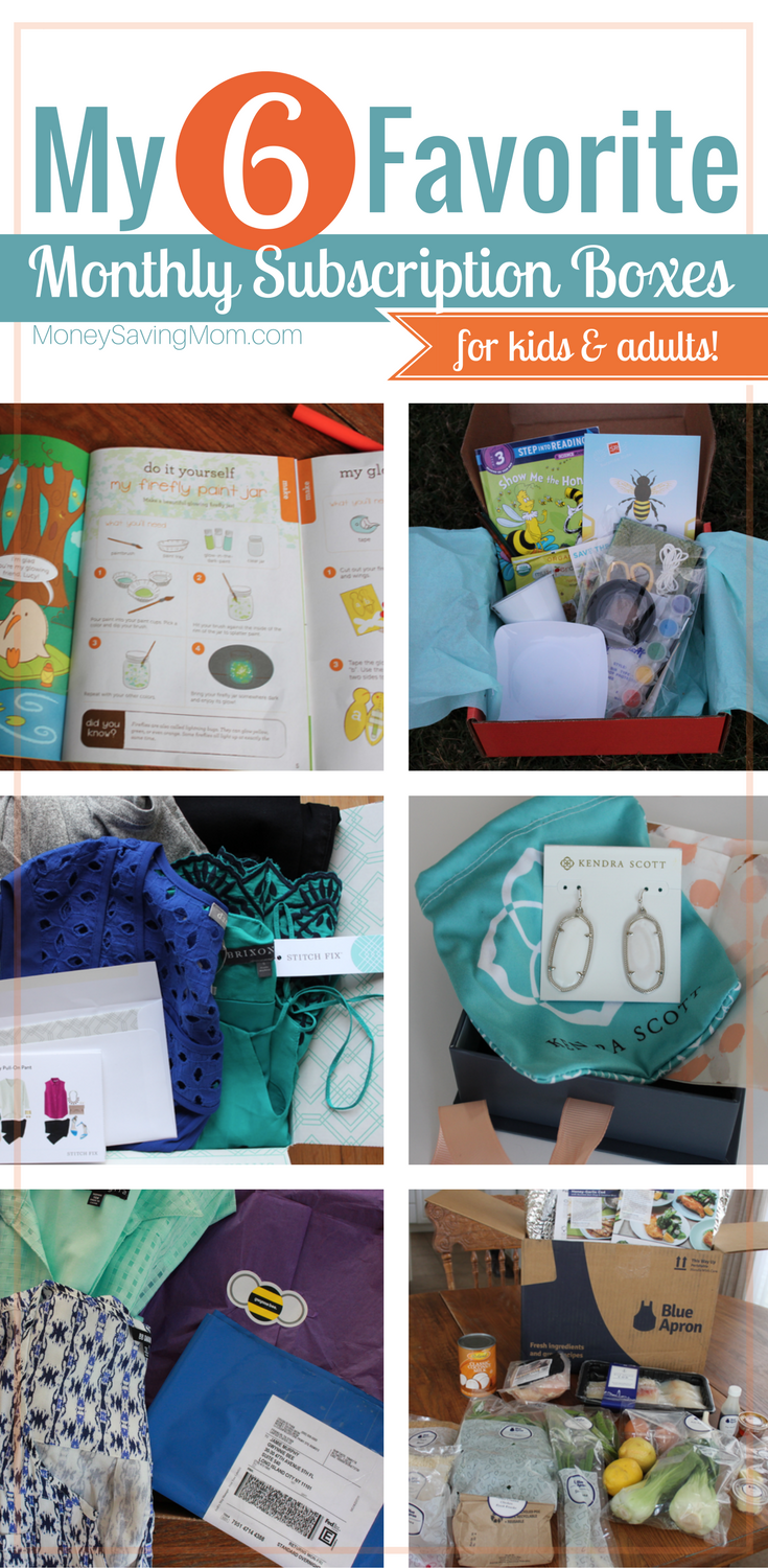 Subscription boxes are a unique gift idea that cuts down on clutter and keeps giving all year long! These 6 ideas are GREAT for adults and kids!