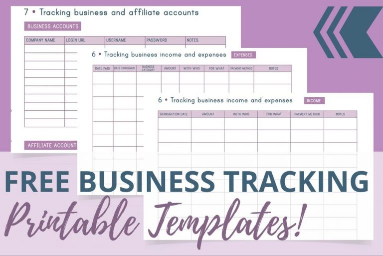 free-business-tracking-printable-templates