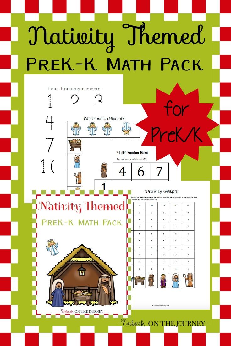 Free Printable Nativity Themed Preschool Math Pack - Money ...