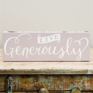 Live Generously Canvas