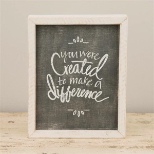 Make a Difference Framed Board