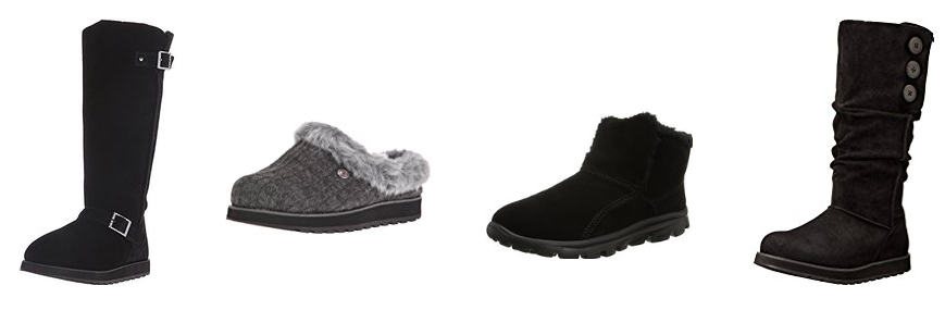 Get up to 40% off Skechers women's boots & slippers!