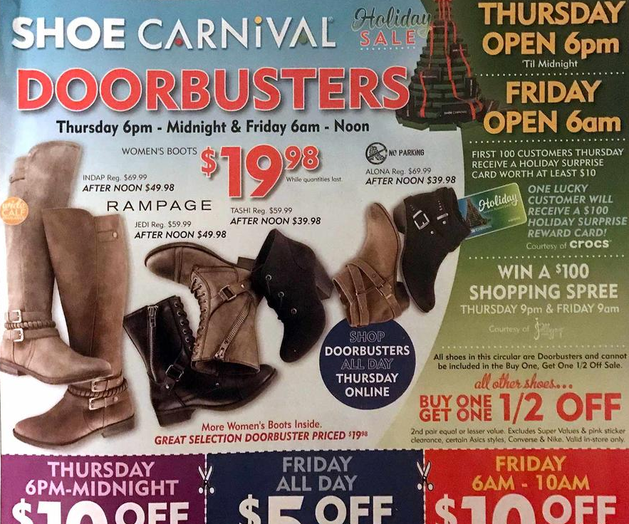 shoe carnival black friday ad 2016 money saving 174