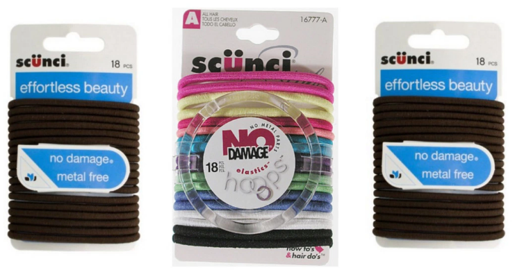 Free Scunci Hair Elastics at Walgreens or Rite Aid!