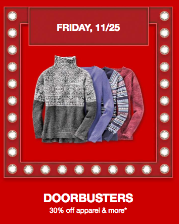 Get 30% off clothing, shoes, & accessories for the family at Target today!