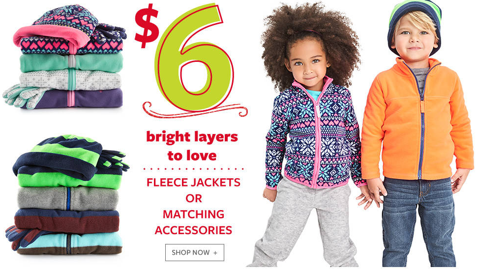 Get Carter's Fleece Jackets for just $6 shipped!