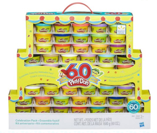 Get the Play-Doh 60th Anniversary Celebration 60-Pack for just $9.94 at Walmart right now!